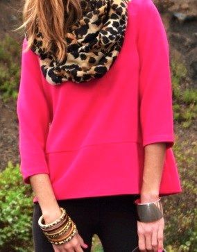 leopard + hot pink