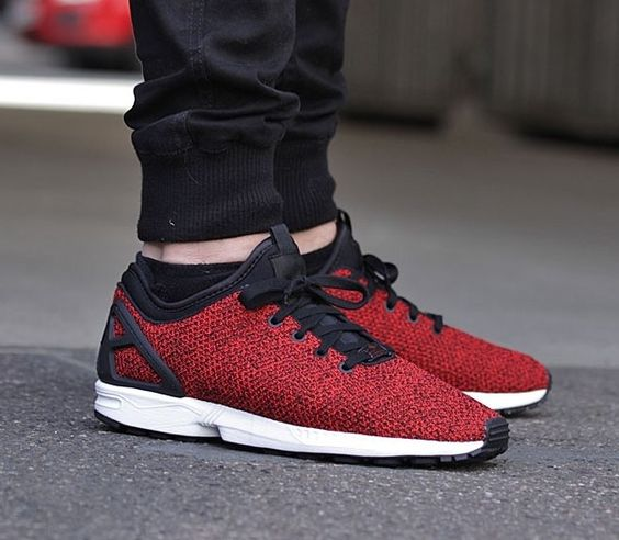 reputable site 4f808 accea Buy adidas Originals Mens ZX Flux ADV Trainers Red Red Core Black