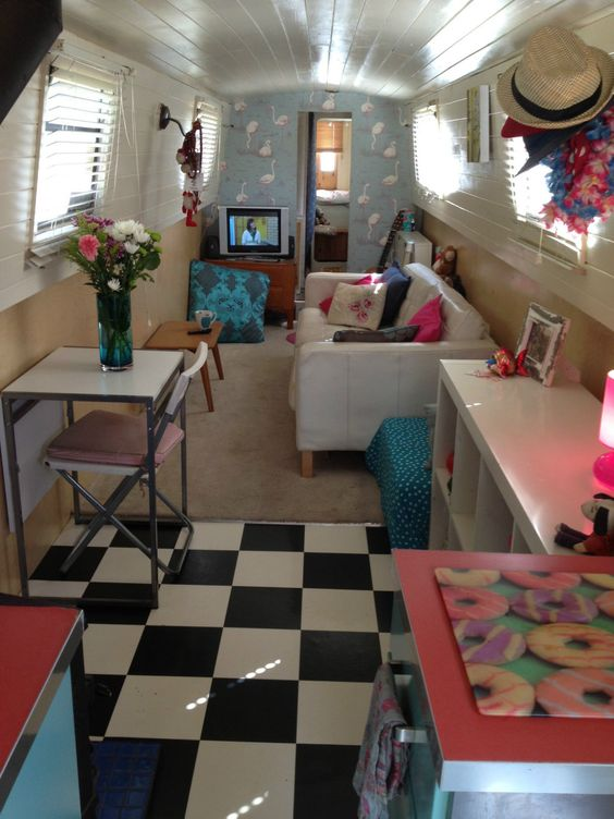narrow boat houseboat interior design