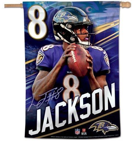 Lamar Jackson Flag Baltimore Ravens House Banner Baltimore Ravens Logo Baltimore Ravens Clothing Baltimore Ravens