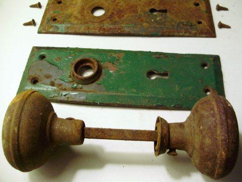 Door Hardware Set From 1920u0027s Craftsman Home | Hardware, Doors And Vintage  Doors
