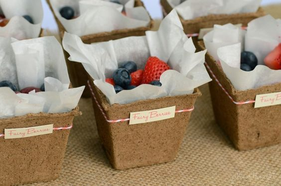 Just use Seed Starting Pots from Home Depot or KMart and parchment paper and you have yourself some cute fruit cups for a party