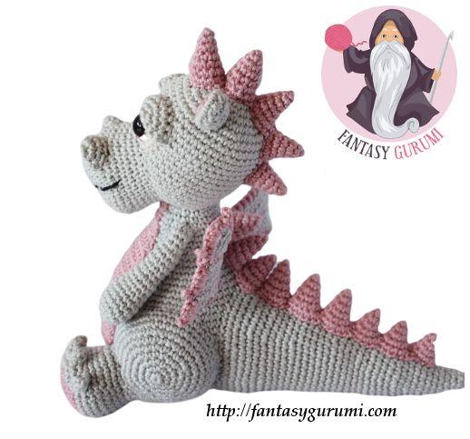 Pitaya la dragonne, amigurumi au crochet - FANTASY GURUMI
