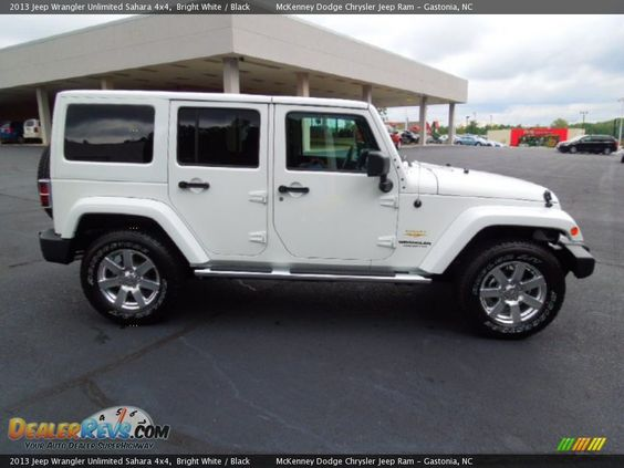 white four door jeep wrangler 2013 jeep wrangler unlimited sahara 4x4 bright white black. Black Bedroom Furniture Sets. Home Design Ideas