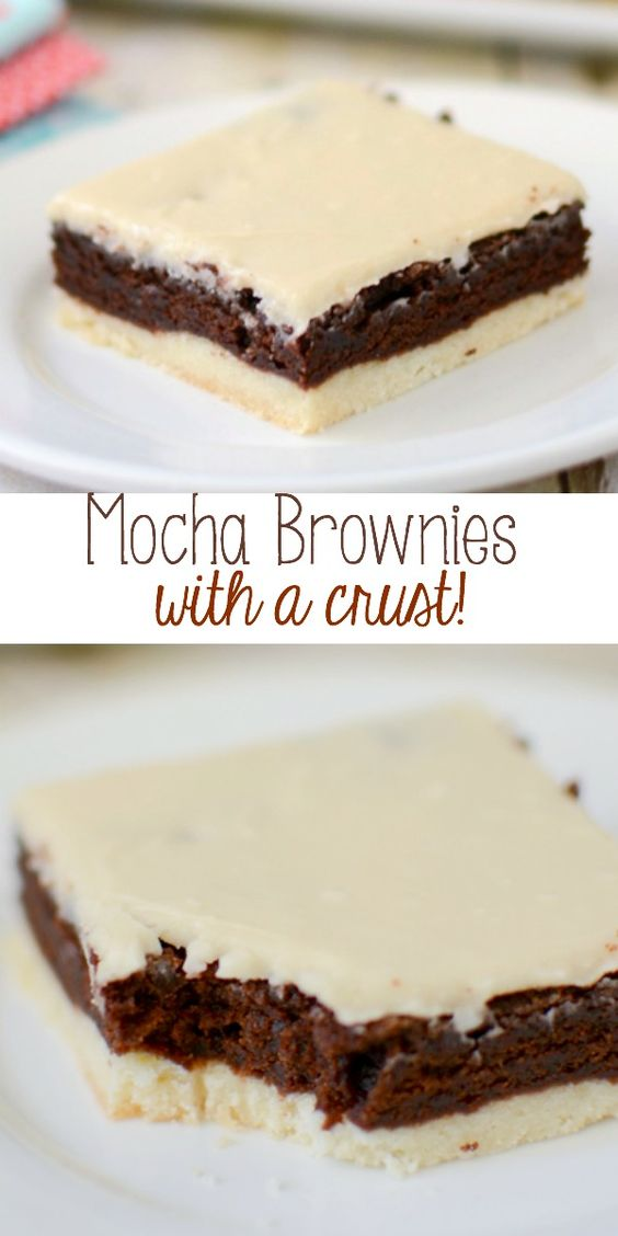 Brownies with a shortbread crust! These brownies are full of coffee ...