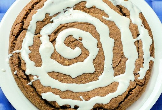 Deep-Dish Cinnamon Roll Pie... How can something so gooey and yummy be so healthy? I've brought this pie to countless parties, and NO ONE has guessed the secret ingredient yet!