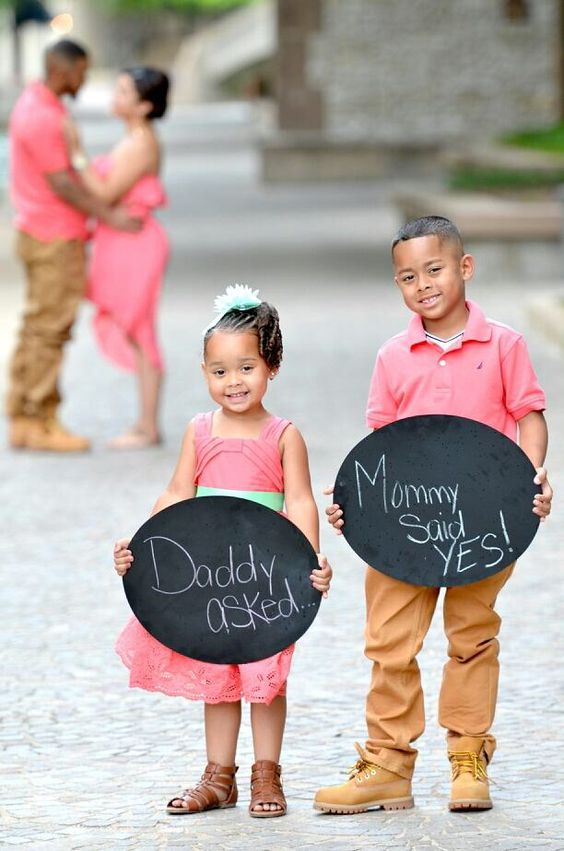 Fun engagement photo with kids taken by Jackie Franco Photography
