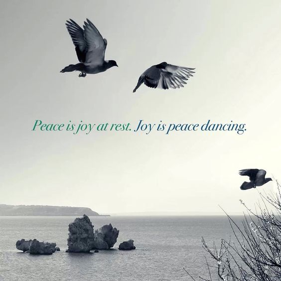 Peace and joy-interesting perspective!