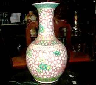 Lindo Vaso Oriental Família Rosa.