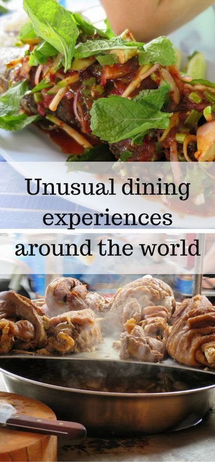 "A great source of inspiration and knowledge also comes from those who have ""been there, done that"". I am delighted to have teamed up with many amazing travellers from around the world who have shared with me their unusual dining experiences around the world."