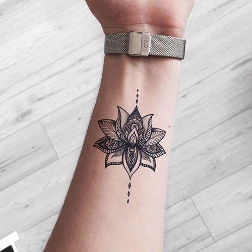 Cute Lotus Flower Tattoo Ideas For Women Tattoos For Women Flowers Flower Wrist Tattoos Best Tattoos For Women