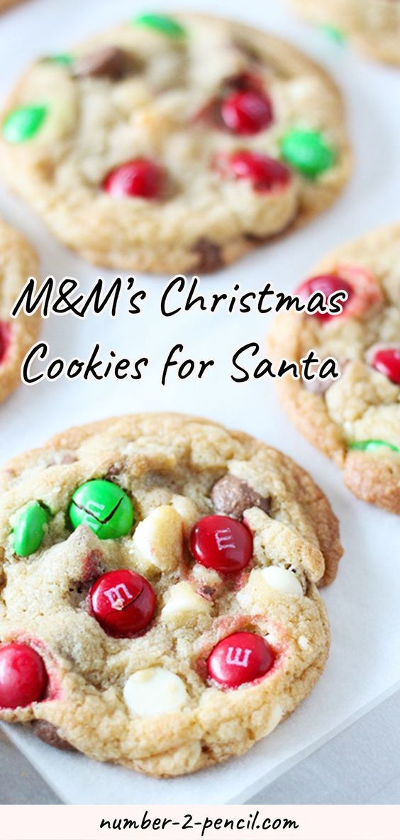 This Christmas M&M�s Cookies are the perfect cookies for Santa! Crunchy and colorful in an easy to make buttery cookie dough, studded with milk chocolate chips and white chocolate chips. One of the things I love most about this recipe is how simple is to