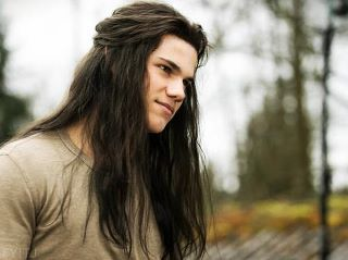 Taylor Lautner portrays the character of Jacob Black......I l<3ved him with long hair.
