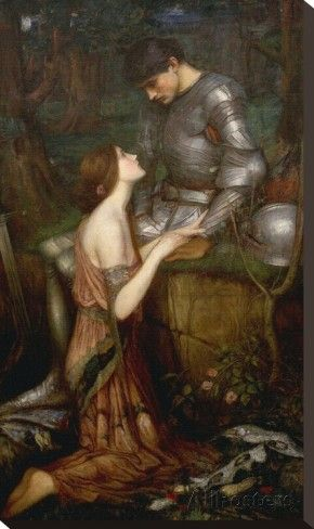 Lamia Stretched Canvas Print