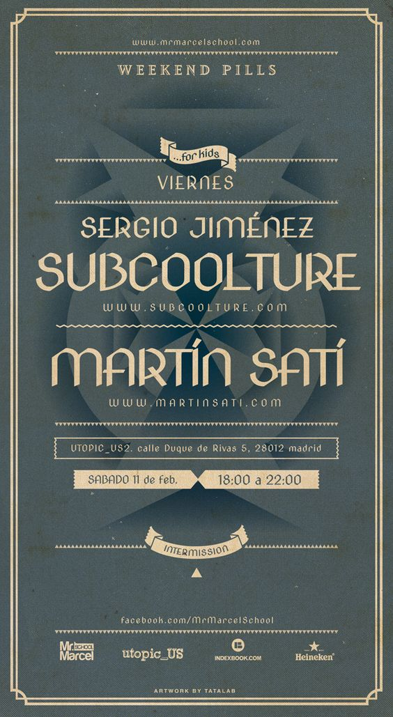 Weekend Pills.   Subcoolture & Martín Satí.