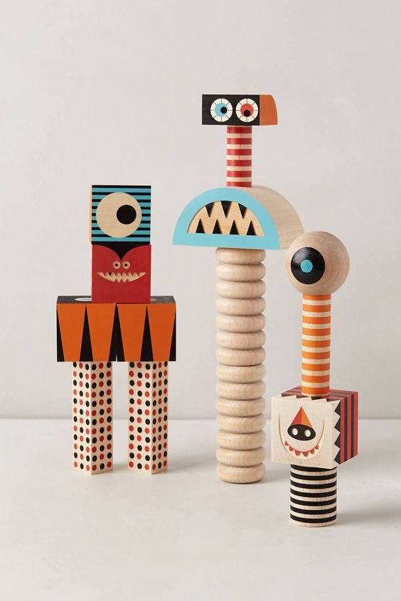 these are fun…and different. Stack & Scare Blocks - anthropologie.com