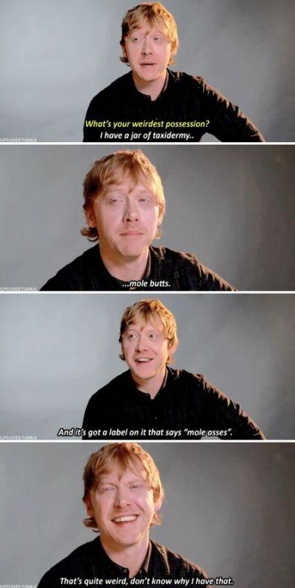 23 Ideas Funny Harry Potter Cast Interviews Rupert Grint For 2019 In 2020 Harry Potter Cast Harry Potter Interviews Harry Potter Funny