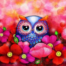 Image result for easy cute owls to paint