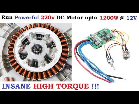 220v 6 Amp Brushless Dc Motor Runs At Just 12v Dc 1200 Watt Bldc Washing Machine Motor High Torque Yo Washing Machine Motor Diy Electric Car Car Alternator