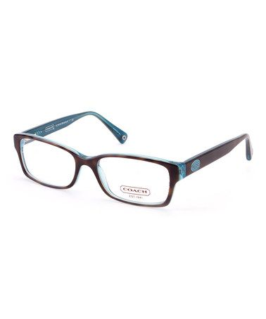Look at this #zulilyfind! Dark Tortoise & Teal Brooklyn Eyeglasses #zulilyfinds