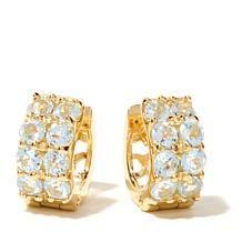 Technibond® Gemstone Hugger Hoop Earrings