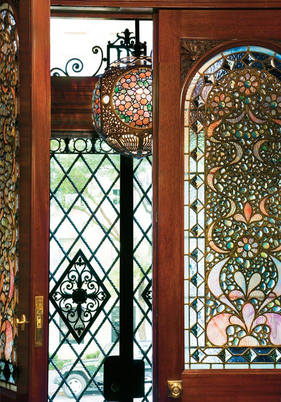 """The interiors of this six-story, 17-room, 10,000-square-foot house are a monument to the Aesthetic Movement, a cheekily eclectic design style that represents """"a fleeting subset of the Victorian period,"""" according to Michael Loeb, who, with his wife, Margie, owns the place. In a seven-year effort, the Loebs, working with David Parker of David Scott Parker Architects, lovingly — and lavishly — restored and refurbished the 1882 building (only the dining room, which was added in 1889, had all of its:"""
