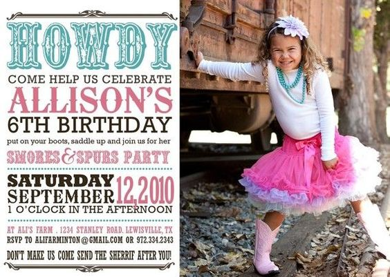 western birthday invitations | custom western birthday invitation cupcakes and by westwillow, $15.00