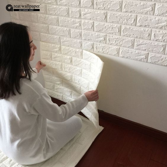 3D wall stickers wall brick pattern self adhesive wallpaper bedroom living room decorative waterproof anti collision-in Wallpapers from Home Improvement on Aliexpress.com | Alibaba Group