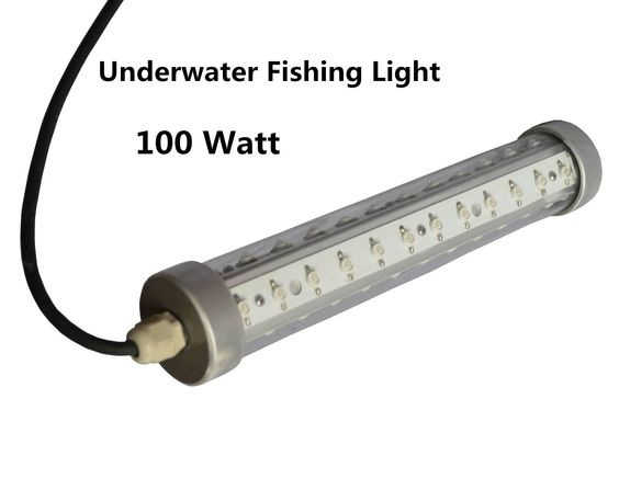 100w underwater fishing light green blue white led light fishing, Reel Combo