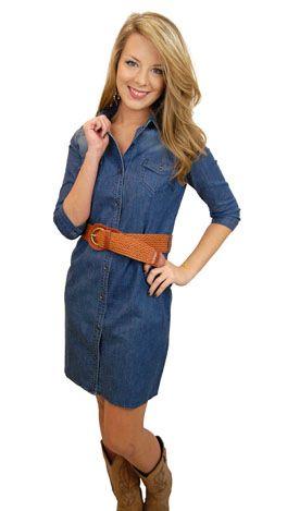 LOVE!!!!!!!!!!! Denim Dress!!  My Style... :)  Pinterest  Blue ...