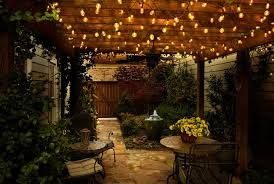 Lighting can enhance the mood in any out door living space.