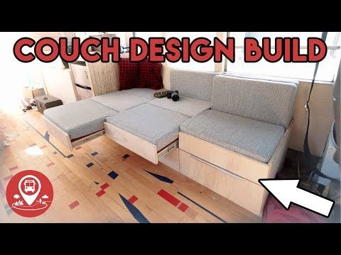 School Bus Conversion Couch Bed
