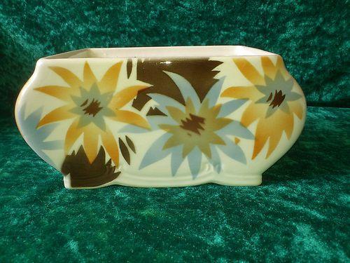 Art Deco Spritzdekor Keramik Schale, Deckeldose Unterteil TOP Potsdam, Keksdose   eBay