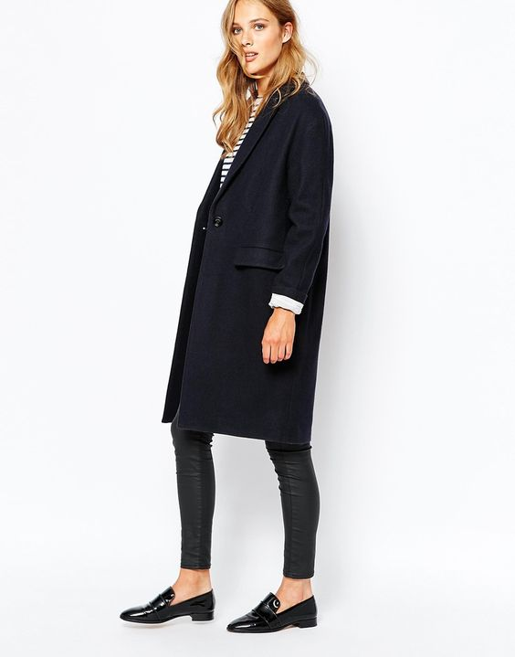 Image 1 - Sessun - Harry - Manteau long - Bleu marine