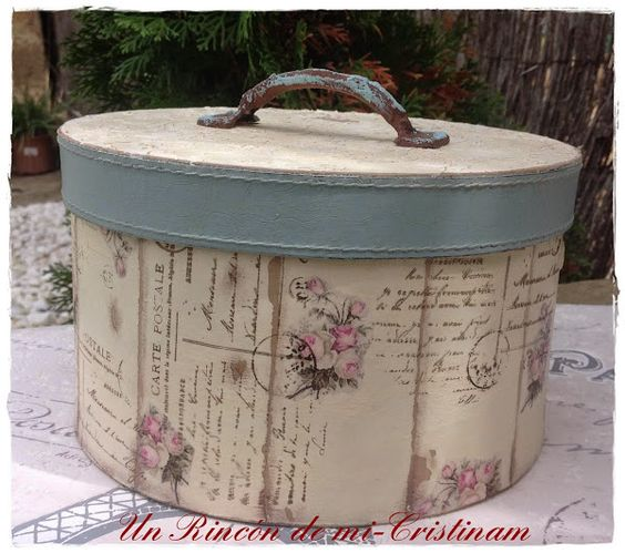 Tutoriales de poca and decoupage on pinterest - Como hacer cajas decorativas ...