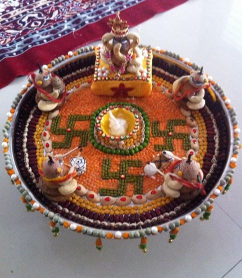 Pinterest the world s catalog of ideas for Aarti thali decoration ideas for ganpati