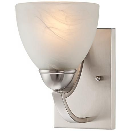 "$29.95.  Possini Euro Milbury Marbleized Glass 9"" High Wall Sconce"