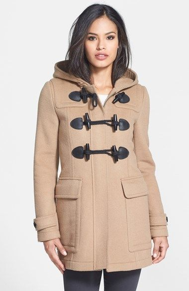 Women's hooded duffle coats – Modern fashion jacket photo blog