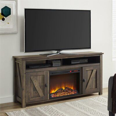 Mistana Whittier Tv Stand For Tvs Up To 60 With Fireplace Color Rustic Fireplace Tv Stand Best Electric Fireplace Fireplace Entertainment