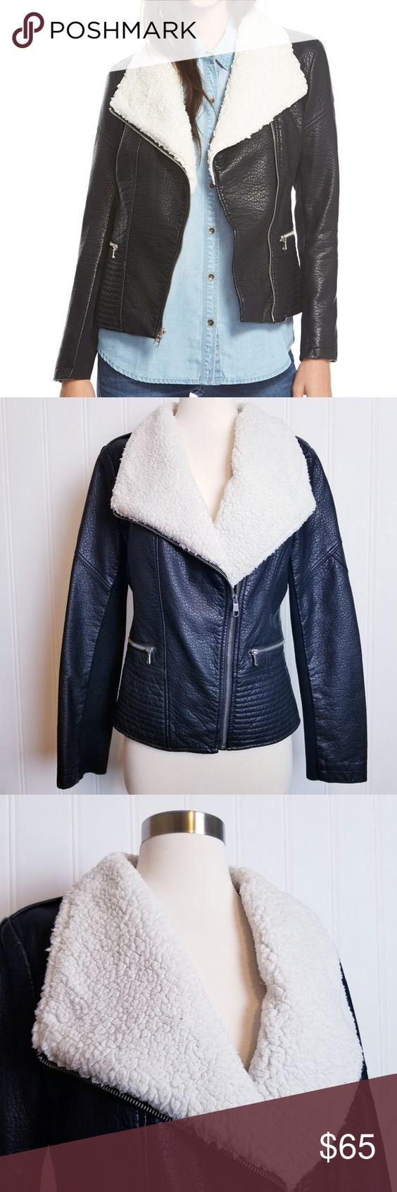 Jessica Simpson Black Faux Leather Moto Jacket Jessica Simpson Women S Black Faux Leather Jack Black Faux Leather Moto Jacket Fashion Black Faux Leather Jacket