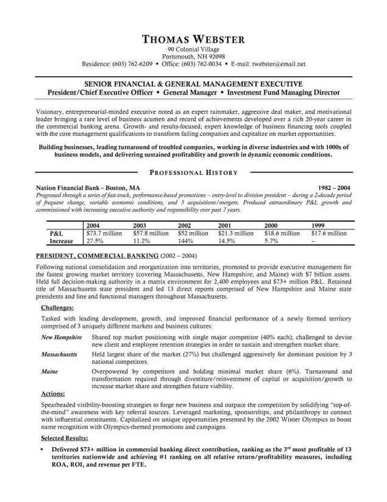 banking resume examples template