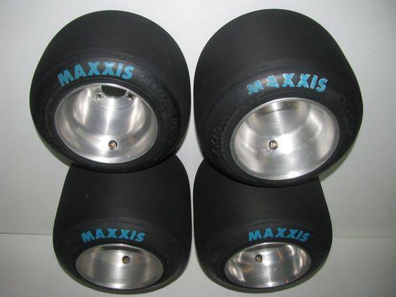 Set of Maxxis HT3 Racing Go Kart Tires Wheels