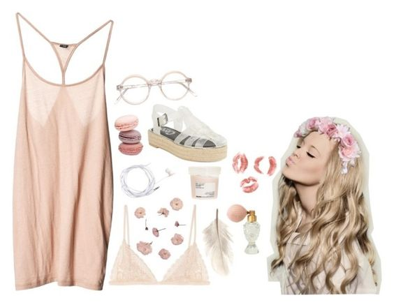 """""""Sin título #278"""" by dreamer-97 ❤ liked on Polyvore featuring Kiki de Montparnasse, Primp, Forever New, Davines, Circus By Sam Edelman, women's clothing, women, female, woman and misses"""