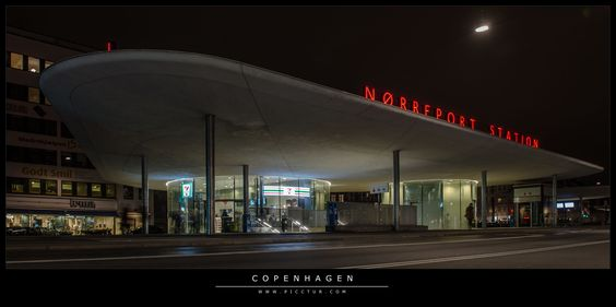 Nørreport Station Foto & Bild | Motive, Architektur bei Nacht, Architektur Bilder auf fotocommunity