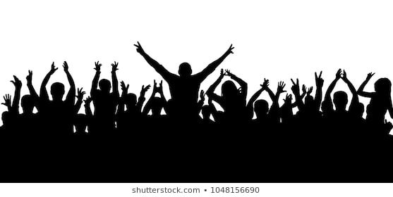 Applause Cheerful Crowd Silhouette Vector Crowd Drawing Silhouette Vector New Background Images