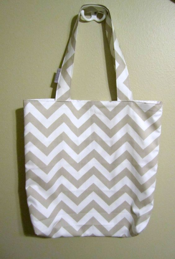 Large Chevron Tote Bag  Pick Your Chevron by LittleFootBoutique, $32.00