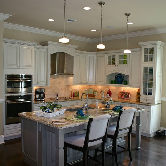 Model homes kitchen bars and step up on pinterest for Model home kitchens