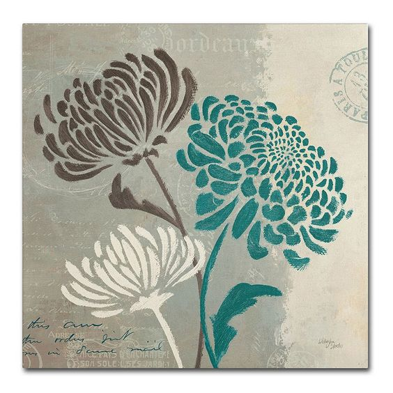 "Trademark Fine Art ""Chrysanthemums II"" Canvas Wall Art, Multicolor"
