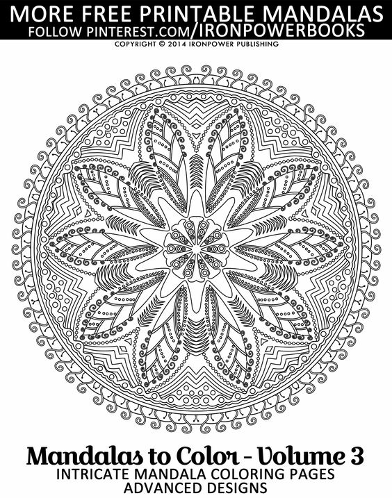 intricate mandala coloring pages free - photo#24