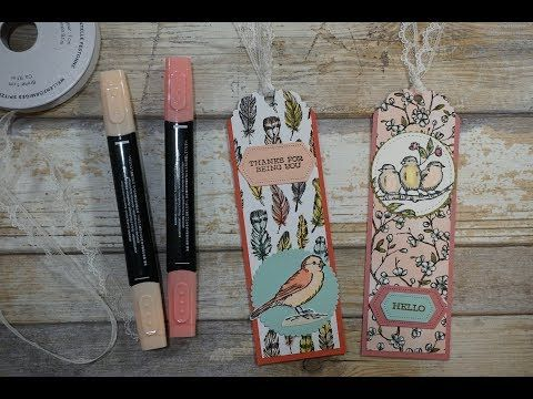 Free As A Bird Bookmarks Using New Products Stampin Up